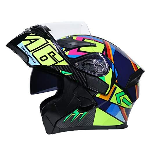 Erwachsene Anti Fog Doppel Objektiv Mountain Road Motorrad Helm Abs Material Kollision Outdoor Modular Racing Helm Vier Jahreszeiten Universal Full Face Motocross Helm - Motorrad Helm Lazer