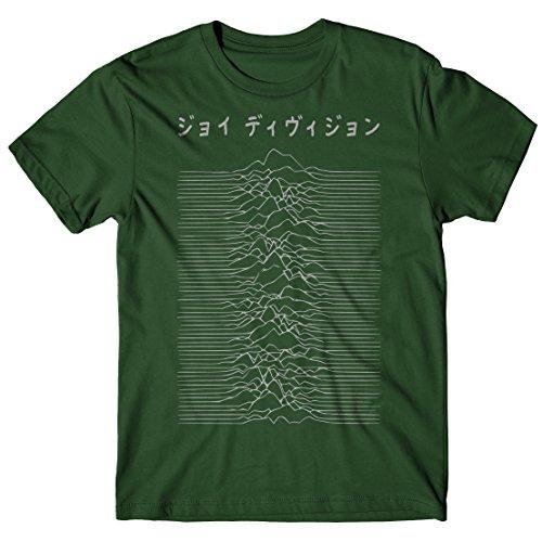 LaMAGLIERIA Camiseta Hombre Joy Division Japan Logo - Grey Print...