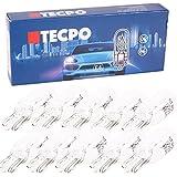 TECPO 10x Cristal Socket de Bombillas W5W Luz de posición Matrícula Lich Auto Bombilla T1012V 5W