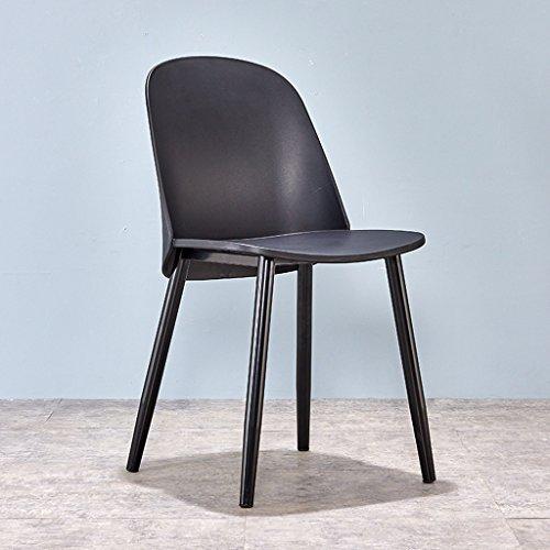 CJH Nordic Simple Modern Casual Verhandlungsempfang Stil Dining Stuhl Kreative Rückenlehne Kunststoff Stuhl Schwarz