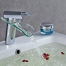 auralum miscelatore monocomando per lavabo rubinetto bagno a cascata moderno