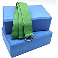 2x blu blocchi per Yoga e Pilates verde Cinturino Elastico Set prolunga per Yoga da MyYogaWheels UK