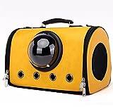 G.Wei Pet Tasche, Tragbare Katze Handtasche, Atmungsaktive Hund aus Tasche, Raumkapsel Haustier Tasche,Yellow