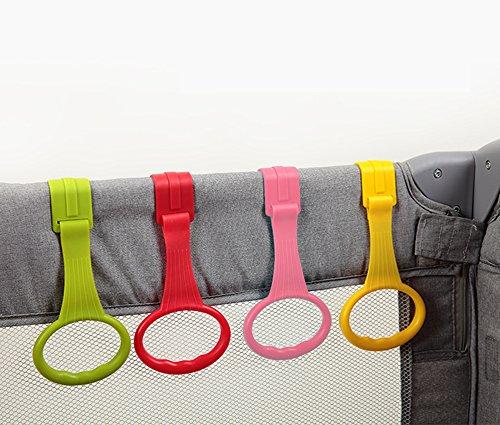 Anelli per Paracolpi, Rimovibili Anelli per lettino di Culla e Box, Confezione da 4 Multicolore VOOA