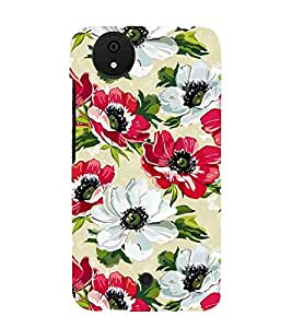 FUSON Poppies Flowers Pattern Seamless 3D Hard Polycarbonate Designer Back Case Cover for Micromax Canvas Android A1 AQ4501 :: Micromax Canvas Android A1