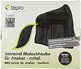 Tepro Universal Grillabdeckhaube für Smoker, mittel, schwarz, 73.7 x 125.7 x 119.4 cm, 8107