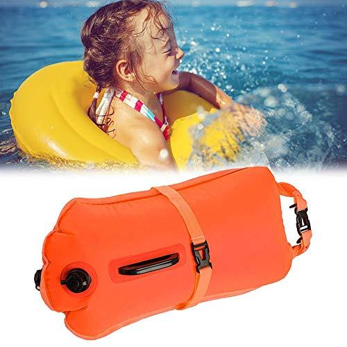 & Trockensack - Sicherheit Beim Schwimmen, Open Water Und Triathlon. Wertgegenstände Am See Pool. Swimming Buoy, Swim Bubble,28L Orange ()
