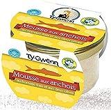 Mousse de anchoas con queso fresco y dos tipos de aceitunas, 90 g,