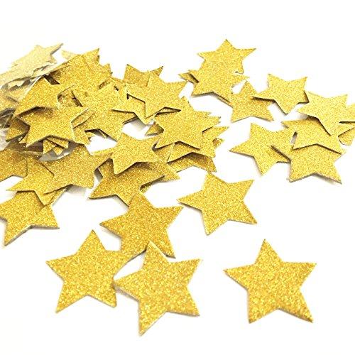 100Glitter gold Star Konfetti Party Dekoration, twinkle twinkle little star Konfetti Sterne, Hochzeit Tisch Decor, Geburtstag Baby Dusche Dekorationen 1.2inches gold (Twinkle Little Star Baby-dusche Dekorationen)