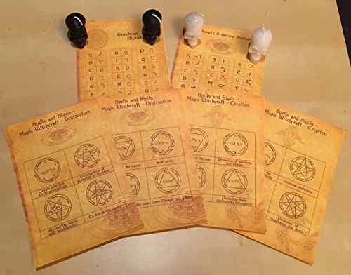 Set – Witchcraft scrolls and spells of creation and destruction