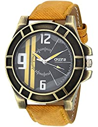 Oura Analouge Black Dial Round Boys & Men,s Watch