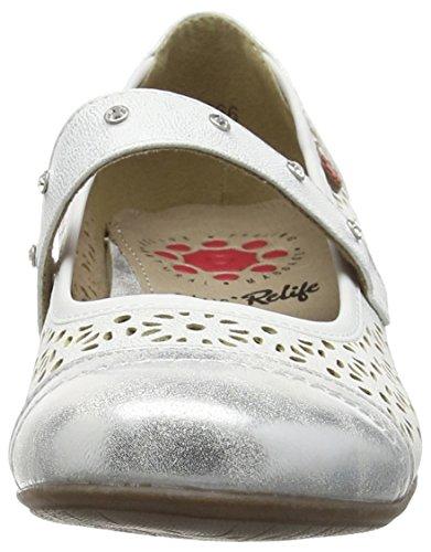 Lotus Klaudia, Ballerines femme Blanc - Blanc
