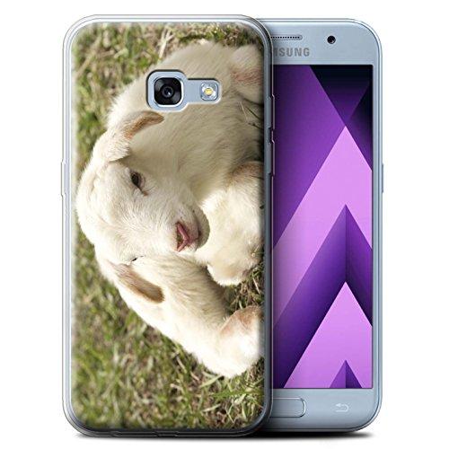 Stuff4® Gel TPU Hülle/Case für Samsung Galaxy A3 (2017) / Lamm/Schaf Muster/Niedlich Haustiere Kollektion (Lamm-mobile)