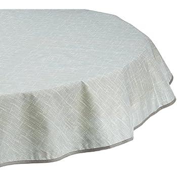 Amazon.de: BEST Tischdecke, rund 130 cm, grau