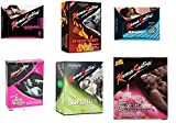 Kama Sutra Condoms Combo Of Dotted + Ribbed + Smooth + Superthin +