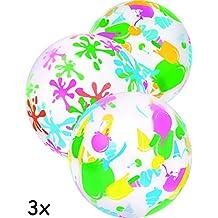 Home Tools.EU®–3X bagno della Palla | Beach Ball, Acqua di Ball, Pallone da spiaggia, Costume da bagno di palloni, | gonfiabile, Multicolore, 41cm | 3er famiglie Set