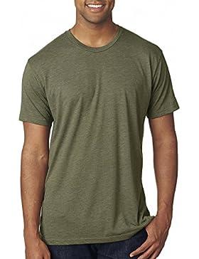 Next Level - Camiseta - para hombre Verde Military Green Talla:large