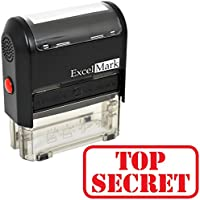ExcelMark TOP SECRET Self Inking Rubber Stamp - Red Ink (A1539)