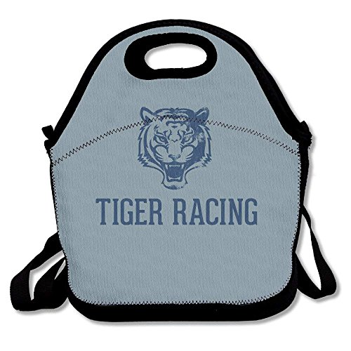 Tiger Racing Printing Lunch Bags Insulated Zip Cooler Bag Portable Takeaway Film Pack Cooler Bag Lunch Box Package Picnic Outdoor Travel Fashionable Handbag Pouch For Women Men Kids Girls Rubbermaid Ice Pack