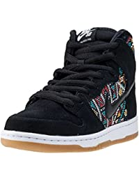 1b6f91a1a8d8cc Nike Dunk High Premium SB Mens Skateboarding-Shoes 313171-030 7 -  Black Black