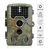 Wildkamera 1080P HD WiMius, Trail Kamera 125° Breite, Jagdkamera 2,4 Zoll LCD, Wasserdicht IP56, Infrarot 20m Nachtsicht 46 IR-LEDs, Überwachungskamera für Wildbeobachtung, Spiel, zur Überwachung und zum Auskundschaften