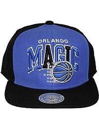 8569b881da0b1 Mitchell   Ness – Gorra con visera plana para hombre Orlando Magic Pinwheel