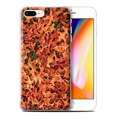 Stuff4 Hülle / Case für Apple iPhone 8 Plus / Gemischt/Violett Muster / Herbstblätter Kollektion Weißdorn/Rot