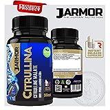 J.ARMOR INTEGRATORE 100% CITRULLINA MALATO PURA | 90 MAXI CAPSULE DA 1369 mg | Vigore Sessuale e Fisico | Ossido Nitrico | Precursore dell' Aminoacido Arginina | PreWorkout | Vegan