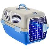 Little Friends Tansy Transportbox für Katzen/Hunde, aus Kunststoff, 46x30,5x28,3cm, Blau