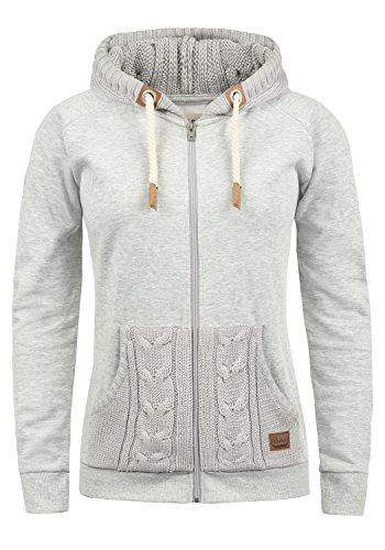 DESIRES Matilda Damen Sweatjacke Kapuzenjacke Hoodie Mit Kapuze Und Fleece Innenseite, Größe:S, Farbe:Light Grey Mel (8242)