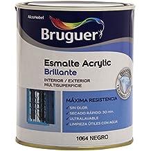 Bruguer 5057426 - Esmalte acrílico brillante Acrylic NEGRO