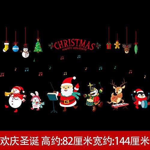 Sticky Christmas Wall Stickers, Mall Windows, Windows, Dekorationen, Dekorationen, Dekorationen, Aufkleber, Tapete, Ruth Jones ' Glas-cracker