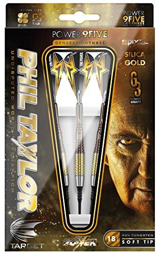 Phil Taylor Power 9-Five Generation 3, Softdart 18g, inkl. 3 Satz EMPIRE®™ + Target Taylor Flights