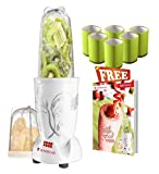 #8: Wonderchef 400 Watt Nutri-Blend White with free set of 6 Glasses and Recipe Book by Sanjeev Kapoor