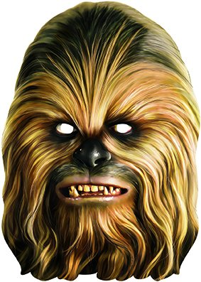 Star Wars Chewbacca Maske Lizenzware braun (Star Kostüm Chewbacca Uk Wars)