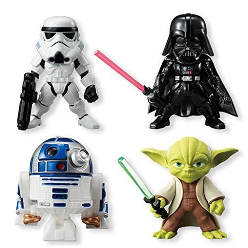 Yingjianjun Star Wars Darth Vader Master Yoda (4 Piezas) Figura de acción Nendoroid Aproximadamente 3.1 Pulgadas