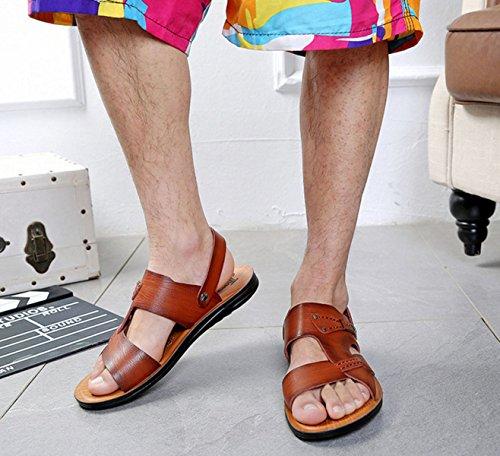 Sandales Sandales Pour Hommes Pantoufles Chaussures échassiers En Plein Air Brown