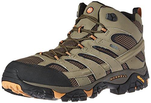 Merrell Moab 2 Mid Gtx, Stivali da Escursionismo Uomo, Nero (Black), 44 EU