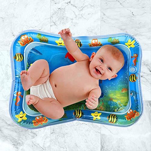 Swonuk Alfombra Inflable con Agua 66*50,  Juego de Esterilla de Agua PVC Grueso,  Adecuado para niños pequeños,  es el Momento de diversión Juego Centro de Actividad