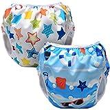 85716558f Luxja Pañal de Natación para bebes Bañador Reutilizable de Nadar de Bebé  Pañal ...