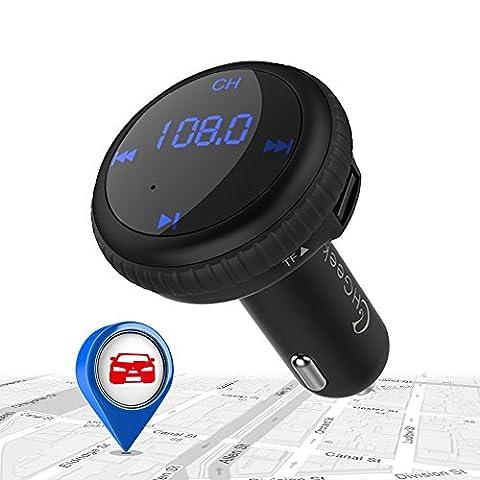 CHGeek Bluetooth FM Transmitter with Smart Car Locator Wireless Car