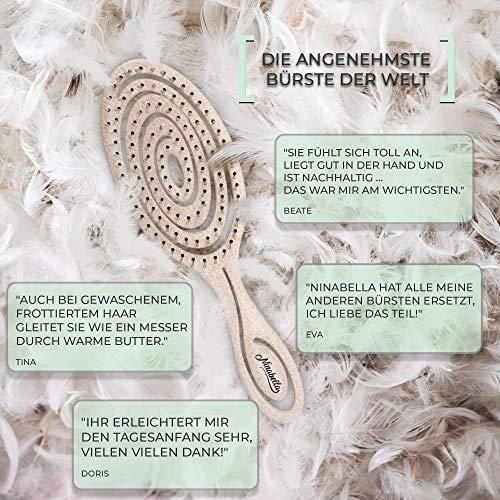 Ninabella®️ Bio Haarbürste ohne Ziepen, Profi Entwirrungsbürste, Einzigartige Detangler-Bürste mit Spiralfeder, Anti-Ziep-Haarbruch-Knoten-Spliss-Bürste - 5