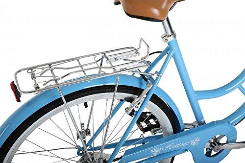 "51Kor Cx0IL - Classic Heritage Ladies 26"" Wheel 7 Speed 16"" Traditional Bike Bicycle Blue"