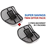 #1: Generic (unbranded) Mesh Ventilation Back Rest with Lumbar Support (Pack of 2, Black)