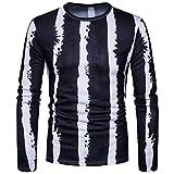 Manadlian Herren Beiläufig Drucken O Hals Pullover Langärmlig T-Shirt Bluse 317b081e66
