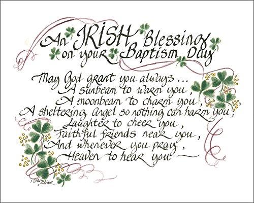 LPG Greetings Irish Blessing for Baptism Decor, Green/White/Black by LPG Greetings