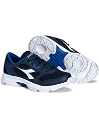 Diadora Kids Shape 7 JR Running Shoe (2 Little Kid, Navy/White)