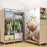 GONGYU Klappbarer Kleiderschrank - Tragbarer Kleiderschrank zum Aufhängen von Kleidern, Platzieren von Büchern, Spielzeughandtüchern - Platz sparend 105 * 45 * 168cm