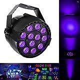 Iluminación de Escenario, 36W 12 LED UV Luces de Etapa Estroboscópica Luz negra Morado Bares/ Partido Discoteca Mostrar/ Boda/ Fiesta de
