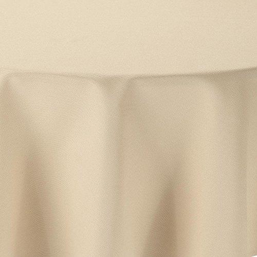 amp-artshop Tischdecke Leinen Optik Oval 160x260 cm Champagner Creme - Farbe, Form & Größe...